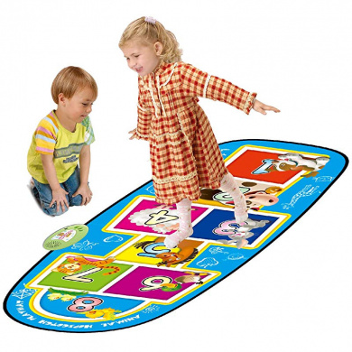 Qiekenao Baby Crawling Mat Digital Checkers Rainbow Hopscotch Game Pad Waterproof Folding Game Pad