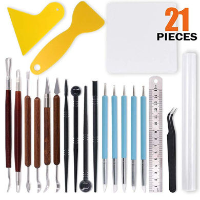 Fityle 14 Pieces//Set Plastic Crafts Clay Modeling Tool for Shaping and Sculpting