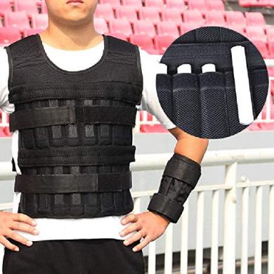 Gorgeri Adjustable MaxLoad 20kg Weighted Vest//Jacket Exercise Training Waistcoat
