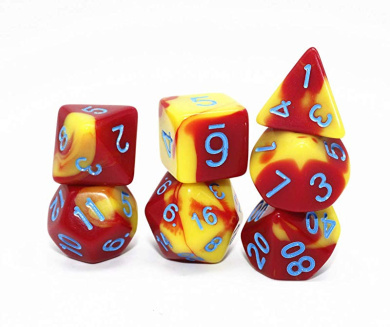 lpyfgtp 1pc Color Point Wood Dice 3cm 4cm Entertainment Party Family Game Kid Toys Education 1.18in, Blue
