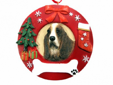 E/&S Pets Basset Hound  Personalized Christmas Ornament 6a  #