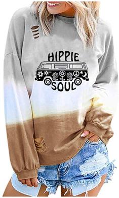 Hatop Womens Sweatshirts Pinapple Print Cute/Crop Top HoodiesLong Sleeve Drawstring Pullover Shirt for Teen Girls