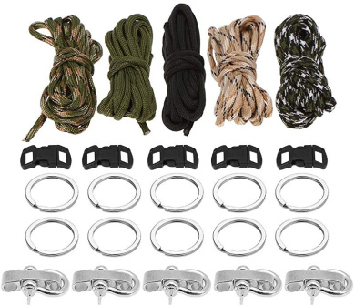 "Drawstrings Braiding Necklaces for Cats /& Dogs Set of 10 Grenhaven 3//8/"" Plastic Buckles Clip Fasteners for Paracord Straps Black"