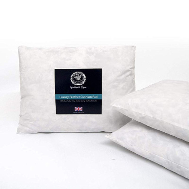 """White Luxury 28/"""" x 28/"""" 70x70cm Deluxe Bounce Cotton Pillow with Ball Hollowfibre"""