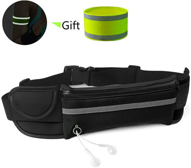 Ultra-Thin Anti-Theft Sports Pockets for Hands Free Running Exercise Workouts JINSHIWQ Running Belt Waist Pack for iPhone Xs and All Phone Models Travel