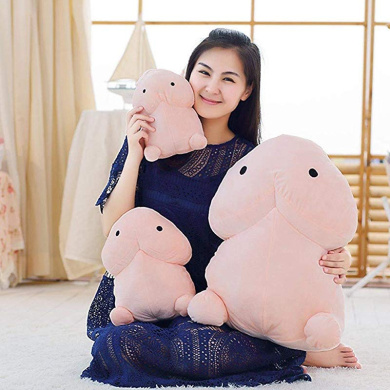 DAMEING Funny Soft Pillow Stuffed Plush Toy Doll Tintin Doll Pillows Cute Creative Plush Doll Toy for Girlfriend Office Chair Pillow