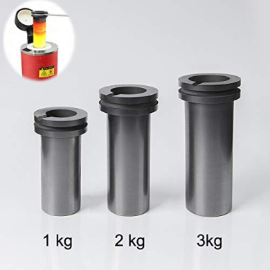 Gold Silver Copper Smelting Graphite Crucible Cup with Lid Lab Supply 20X20MM