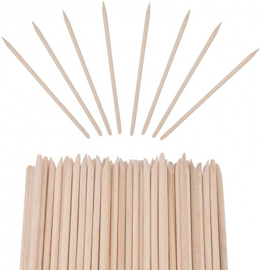 Geviro 100 pieces Orange Wood Sticks Nail Art Manicure ...